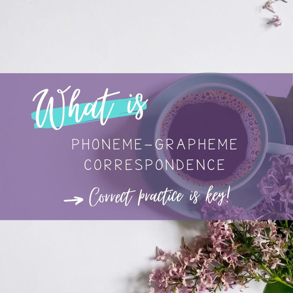 phoneme-grapheme-correspondence