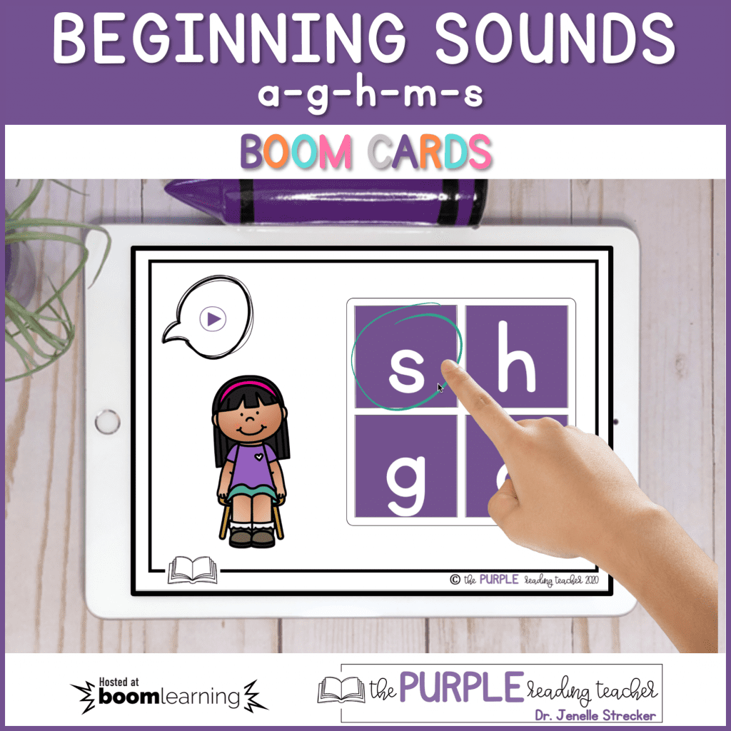 Beginning Sounds Boom Cards Activity