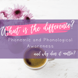 Phonemic and phonological awareness: What is the difference and why does it matter?